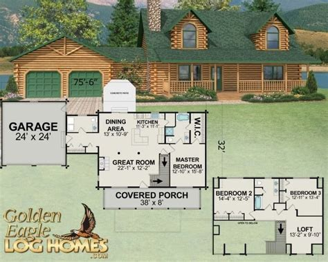 Log-Cabin-Floor-Plans-With-2-Bedrooms-And-Loft