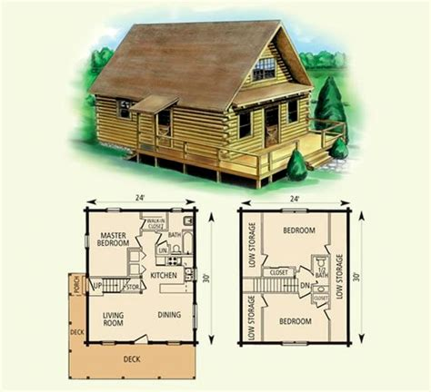 Log-Cabin-Plans-With-Loft-Free