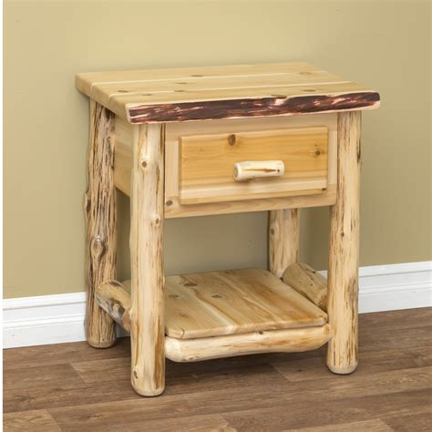 Log-Nightstand