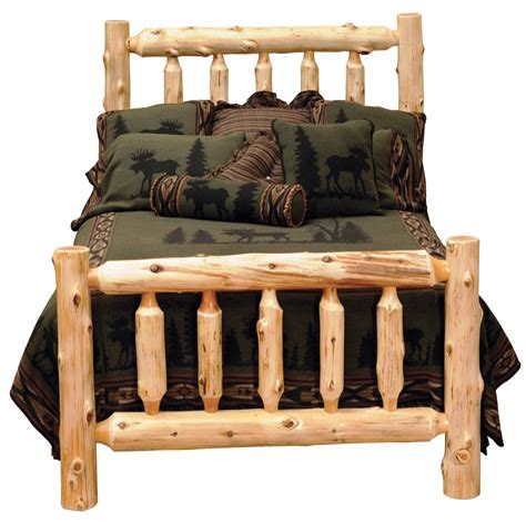 Log-Queen-Bed-Plans