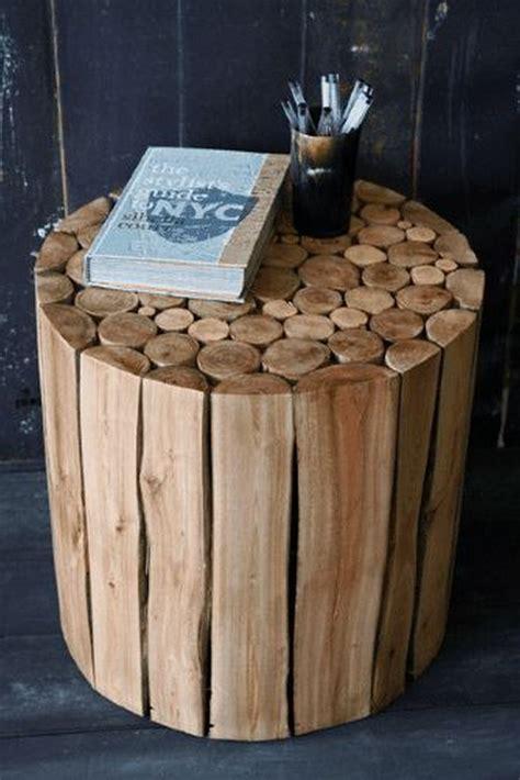 Log-Side-Table-Diy