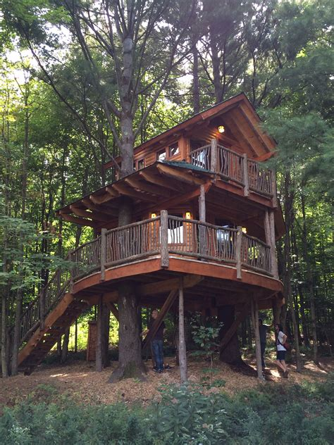 Log-Tree-House-Plans