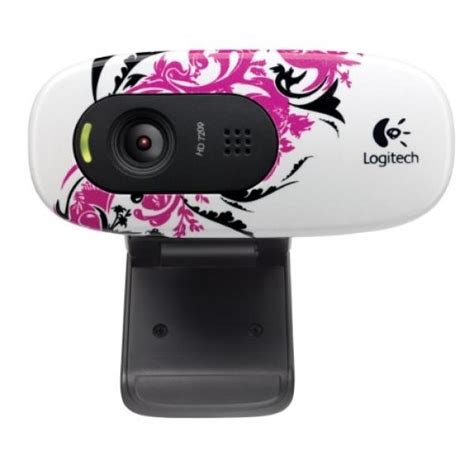 Logitech C270 720p Widescreen Video Call and Recording HD Webcam (Floral Spiral)