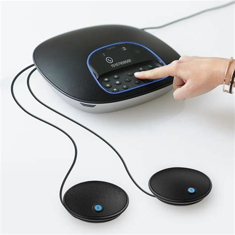 Logitech Group Video Conferencing Bundle with Expansion Mics, HD 1080p Camera and Speakerphone 960-001060(Certified Refurbished)