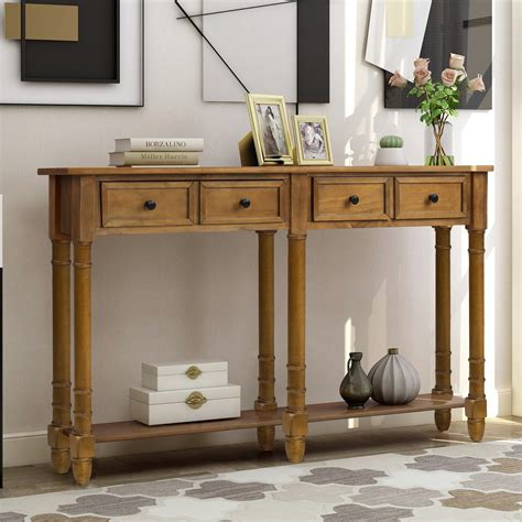 Long Narrow Console Table With Drawers