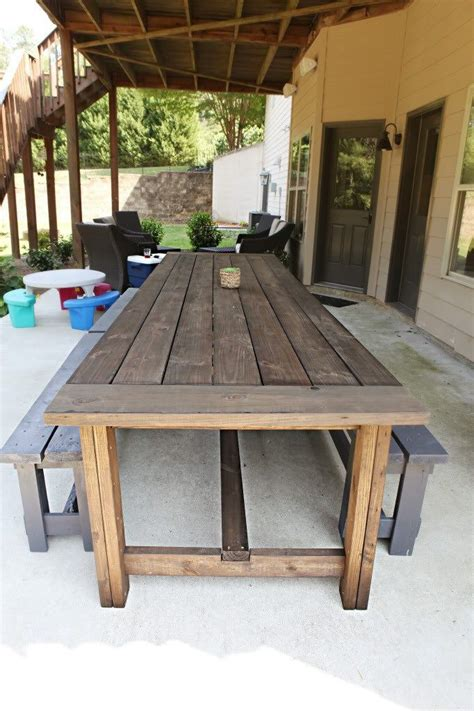 Long Outdoor Table Diy Paint