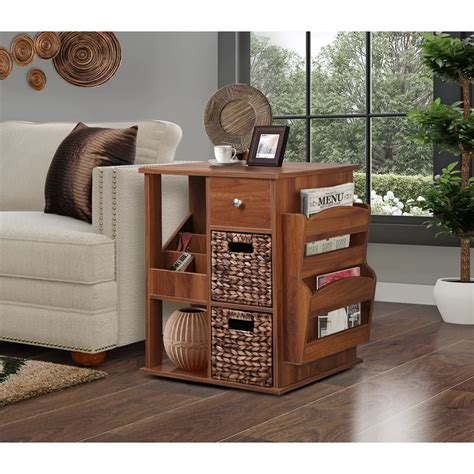 Low 3 Drawer End Table Bureaus For Bedrooms