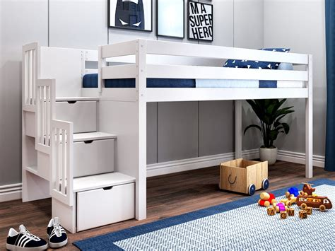 Low Bunk Bed With Staircase