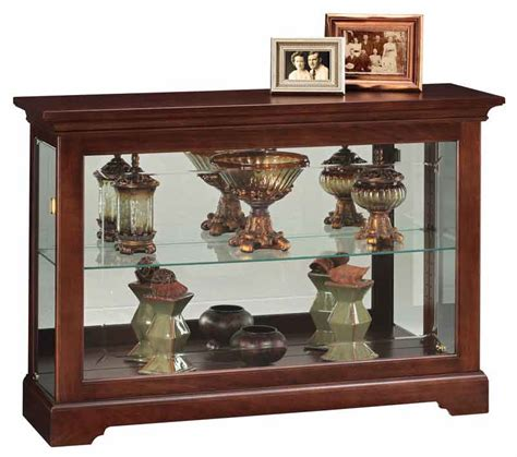 Low Low Profile Curio Cabinets