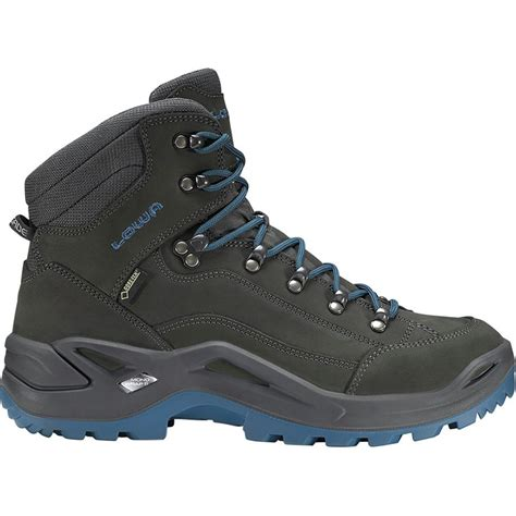 Lowa Renegade GTX Mid Hiking Boot - Anthracite/Denim - Mens - 9.5