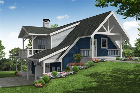 Lower Level Garage House Plans