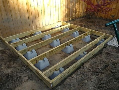 Lowes How To Build A Deck Without Concrete