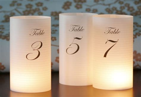 Luminary Table Numbers Diy Stands