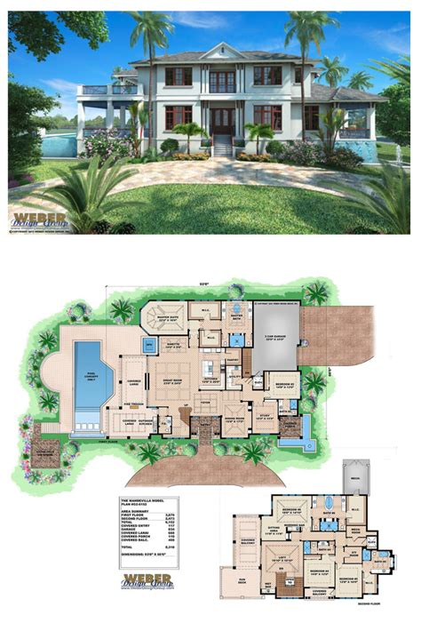Luxury Beach House Home Plans