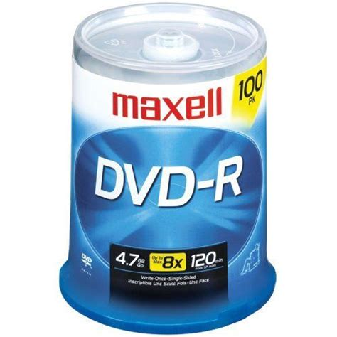 MAXELL - MAXELL 638014 4.7 GB DVD-RS (100-CT) - MXLDVDR100S
