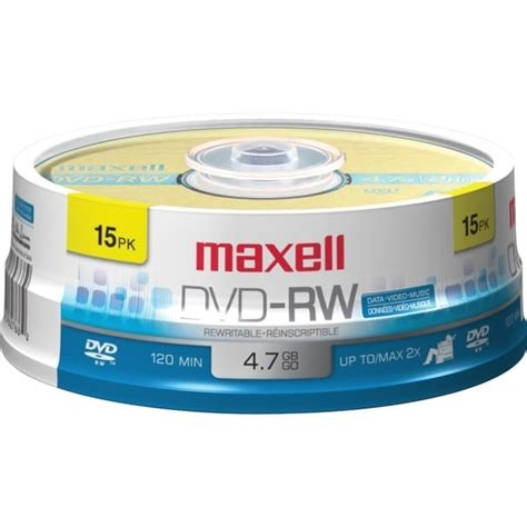 MAXELL 635117 4.7GB 120-Minute DVD-RWs (15-ct Spindle)