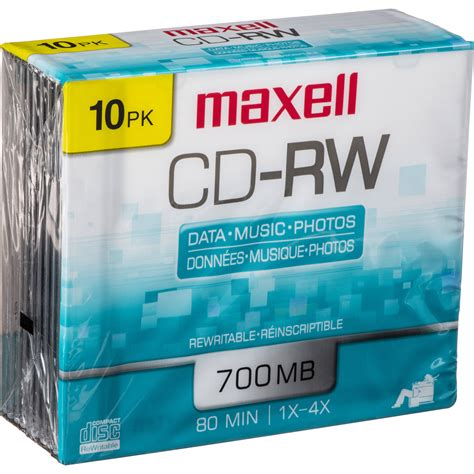MAXELL CD REWRITABLE 4X 700MB