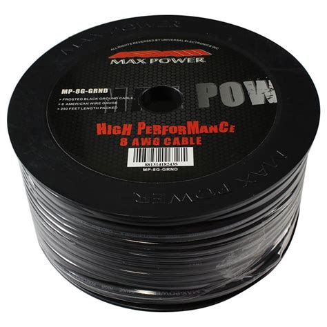 MAXPOWER MP8GGRND Max Power ground cable 8ga 250ft