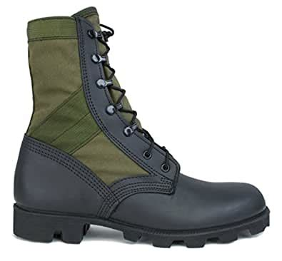 MCRAE HW Jungle Boot In OD and Black With Panama Outsole (9.5W)