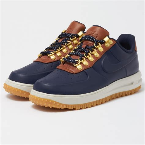 MEN'S NIKE LUNAR FORCE 1 DUCKBOOT LOW OBSIDIAN/BROWN