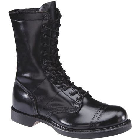 MENS LEATHER COMBAT BOOT 10'