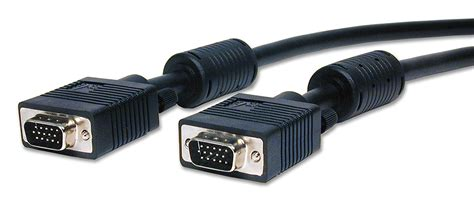MHP 25m Fully wired VGA Cable Male to Male 15pin HD15M to HD15M SVGA PC to TV Lead CRT TFT Monitor Cable Black