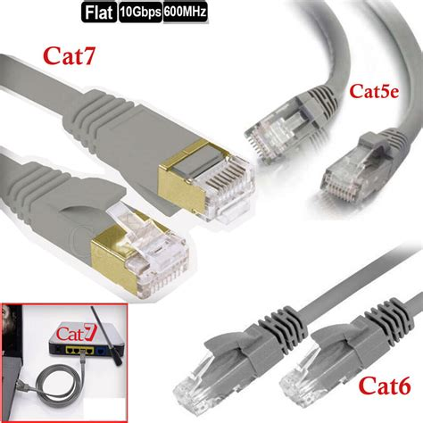 MHP® 15m Cat 7 Ethernet Patch Lead / RJ45 LAN Network Cable Grey 10 Gigabit
