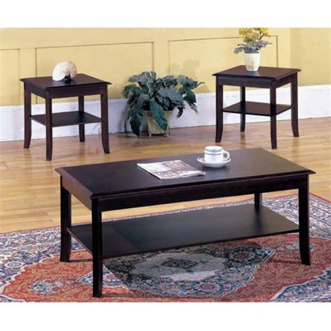 Macalla 3 Piece Coffee Table Set