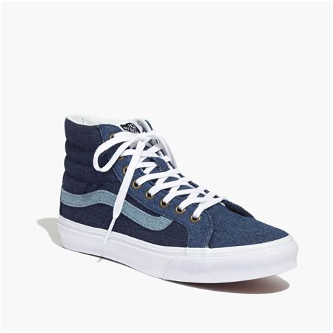 Madewell X Vans Sk8-hi Slim High-top Sneakers In Denim