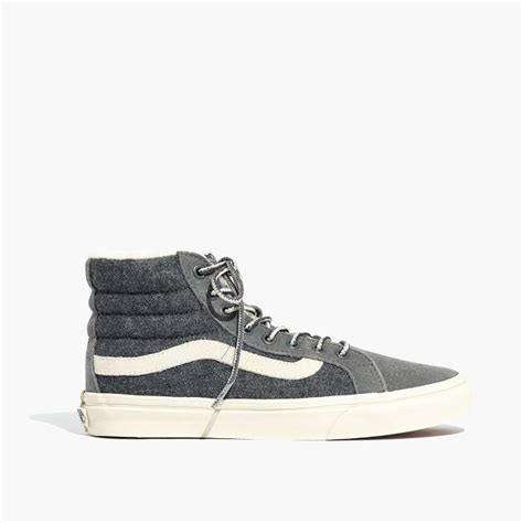 Madewell X Vans Unisex Weatherized Classic Sk8-hi High-top Sneakers