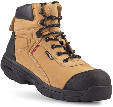 Madik Men's Boots - Waterproof, Slip-Resistant, Comfortable Work Boots - Great For Heel Pain & Plantar Fasciitis