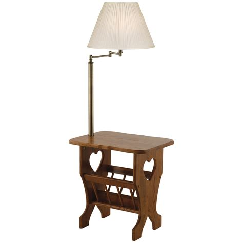 Magazine Side Table With Lamp