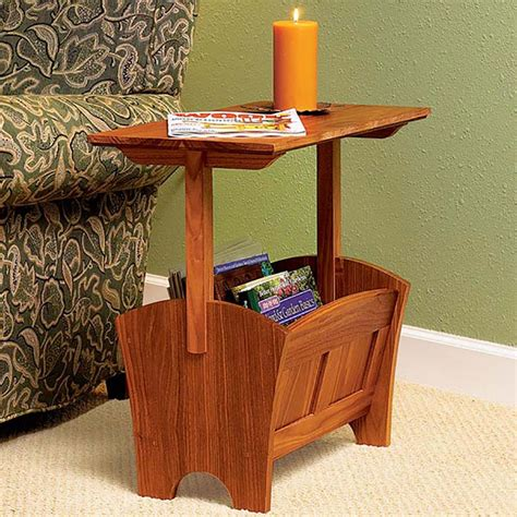Magazine-Rack-Table-Woodworking-Plans