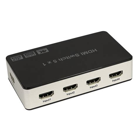 MagiDeal 4KX2K 5port HDMI Switch Switcher Adapter 5X1 3D Full HD1080p &Remote Control