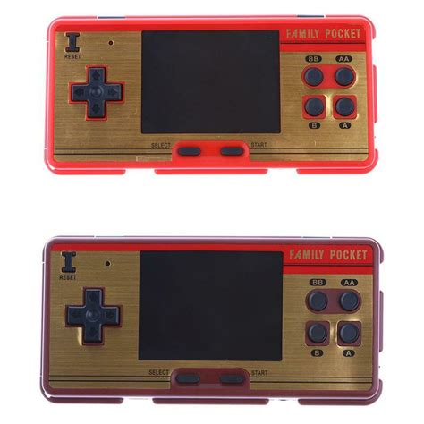 MagiDeal RS-20A 3.0 Inch 638 Classic Video Games Handheld Player Console Dark Red