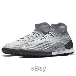 Magistax Proximo II TF 843958-060 Grey/Black/Red Men's Turf Soccer Shoes