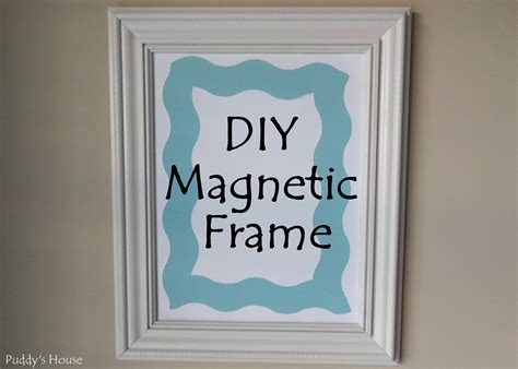 Magnetic Picture Frames DIY