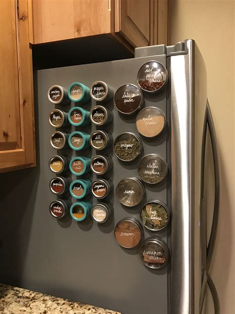 Magnetic Spice Rack Diy Fridge Lock