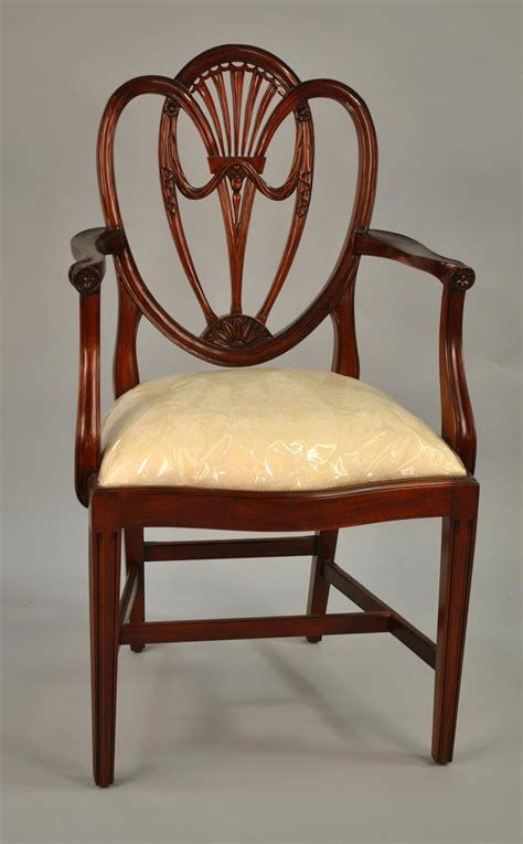 Mahogany Shield Back Dining Room Chairs