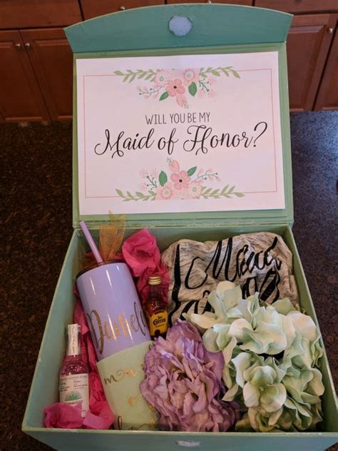 Maid Of Honor Proposal Box DIY