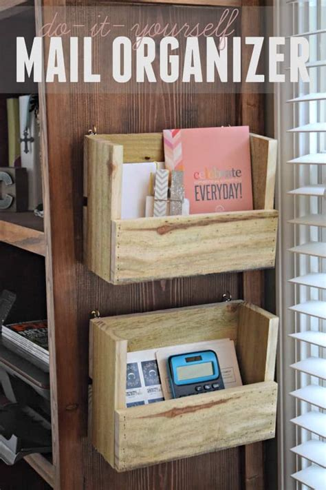 Mail Storage Diy Ideas