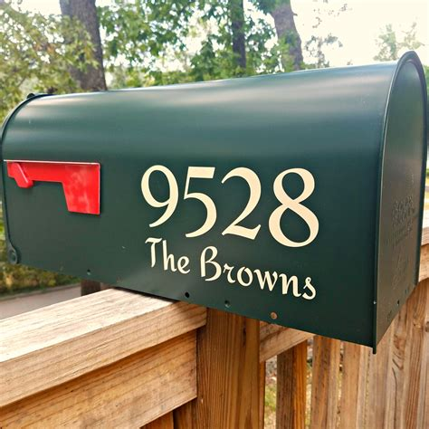 Mailbox Numbers Decals