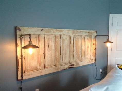 Make King Size Headboard From Door