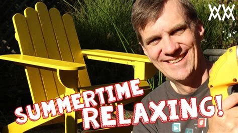Make an adirondack chair for your home this summer limited tools woodworking project Image