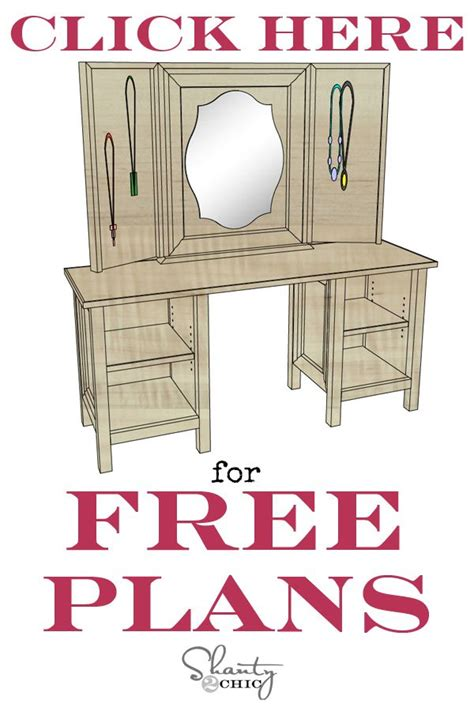 Makeup Vanity Woodworking Plans Xp