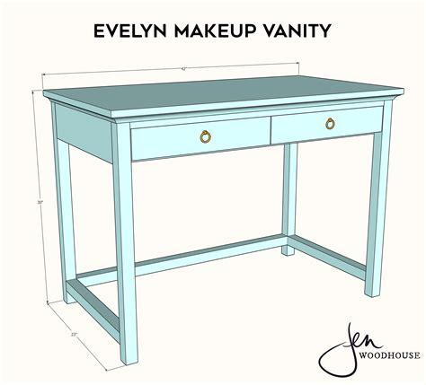 Makeup-Table-Building-Plans