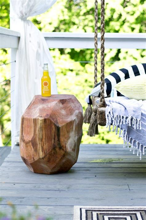 Making An End Table Out Of A Log Chainsaw