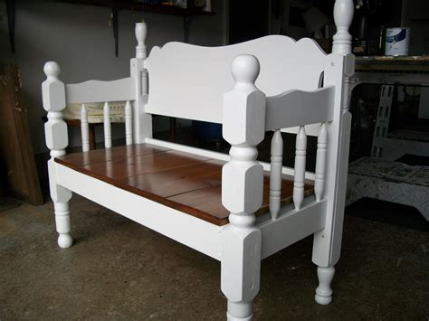Making Bench From Bed Frame