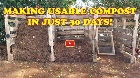 [click]making Compost In 30 Days Using Pallet Wood Bins.