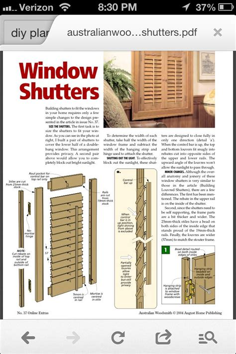 Making Plantation Shutters Plans